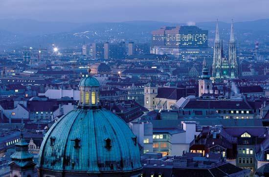 Vienna at night, 2011